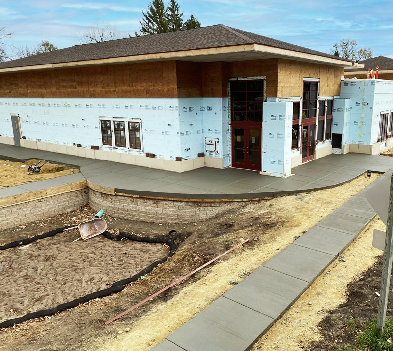Concrete Contractor Green Bay WI Absolute Concrete Commercial Flatwork Belleville Library
