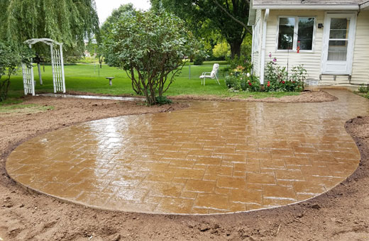Concrete Contractor Green Bay WI Absolute Concrete Decorative Stamped