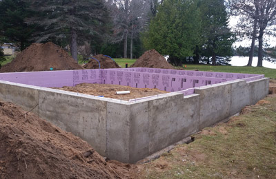 Concrete Contractor Green Bay WI Absolute Concrete Residential Wall Service