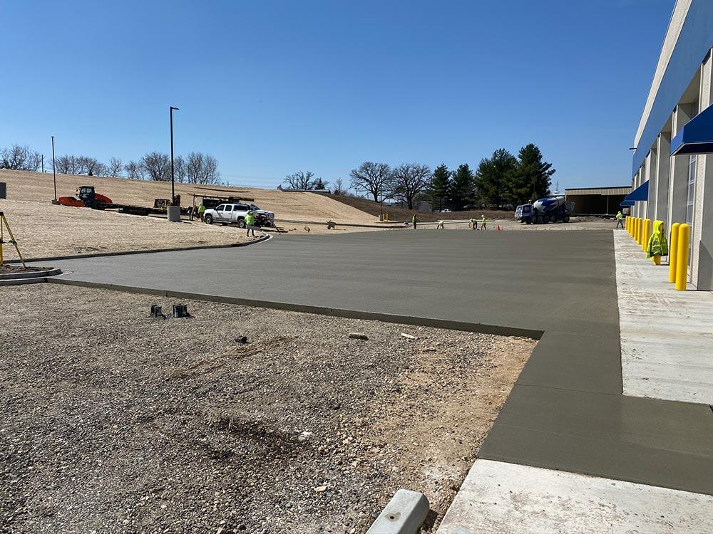 Concrete Contractor Green Bay WI Certco Commercial Flatwork Job