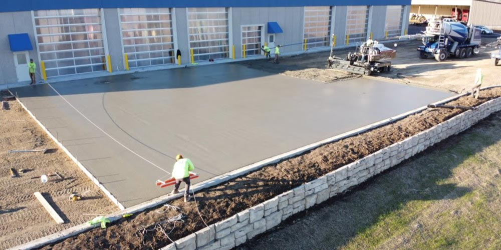 Concrete Contractor Green Bay WI Certco Commercial Flatwork Project