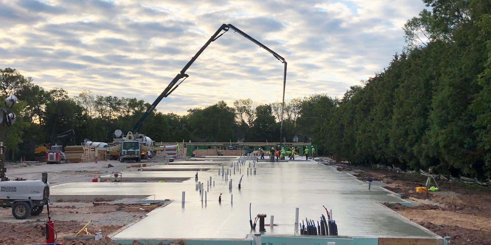 Concrete Contractor Green Bay WI Commercial Flatwork Machinery