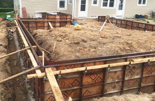 Concrete Contractor Green Bay WI Foundation Walls for Residential