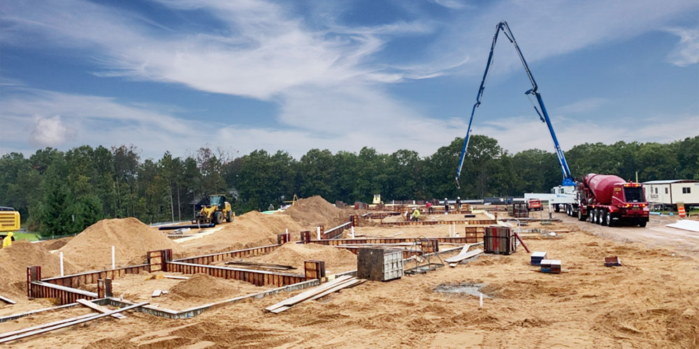 Concrete Contractor Green Bay WI Lake Arrowhead Golf Commercial Foundation
