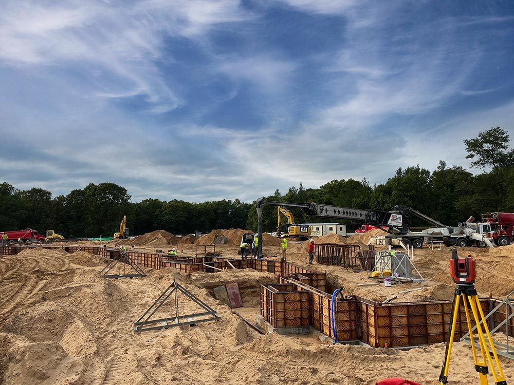 Concrete Contractor Green Bay WI Lake Arrowhead Golf Commercial Foundations