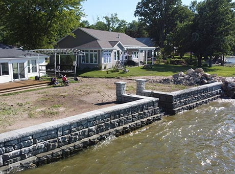Concrete Contractor Green Bay WI Residential Seawall