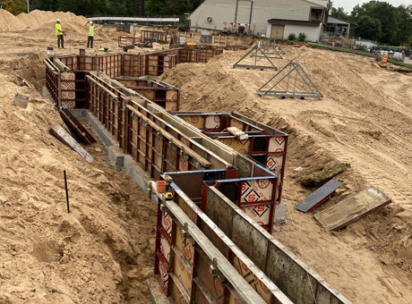 Concrete Contractor Green Bay WI Absolute Concrete Commercial Walls