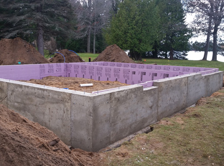 Concrete Contractor Green Bay WI Absolute Concrete Residential Walls